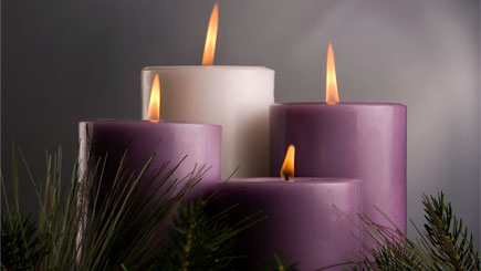 image of Advent candles