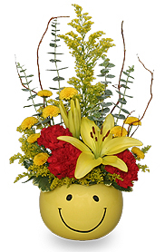 image of happy face flowers