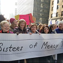 image of SOM at Women's March in NYC