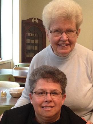 image of Sisters Lisa Gambacorto, RSM,and Mary Kerwin, RSM