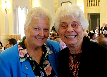 image of Srs. Patricia Vetrano and Camille D'Arienzo at 2019 Evening of Mercy