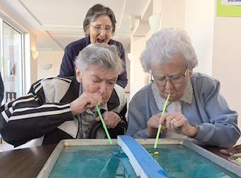 image of Srs. Dorothea Gillen, Maureen Gregory and Mariette Schmidt
