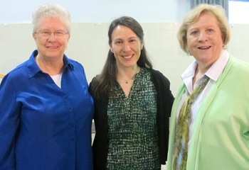 image of Sr Marie Michele Donnelly, Kathryn Getek Soltis, and Sr. Pat Talone at Theological Education Day Apr 14, 2018