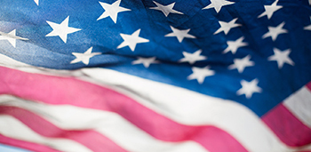 image of American flag from unsplash