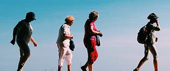 image of women walking